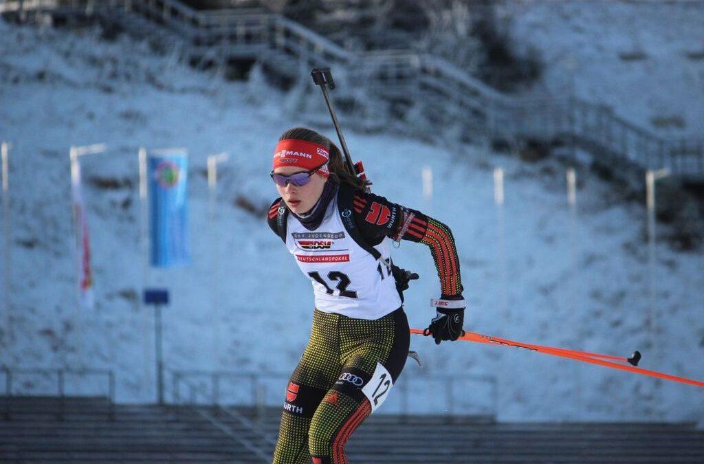 Jana Fiedler beim Deutschlandpokal der Biathleten vom 25.01.-26.01.2020!